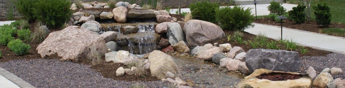 landscape waterfall greenville il